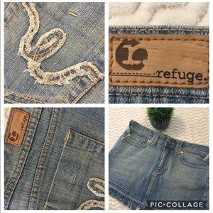 Refuge Denim Mini Skirt Juniors 7